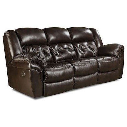 Recliner Pillow Homestretch Cheyenne Casual Double Reclining Sofa With Pillow Arms